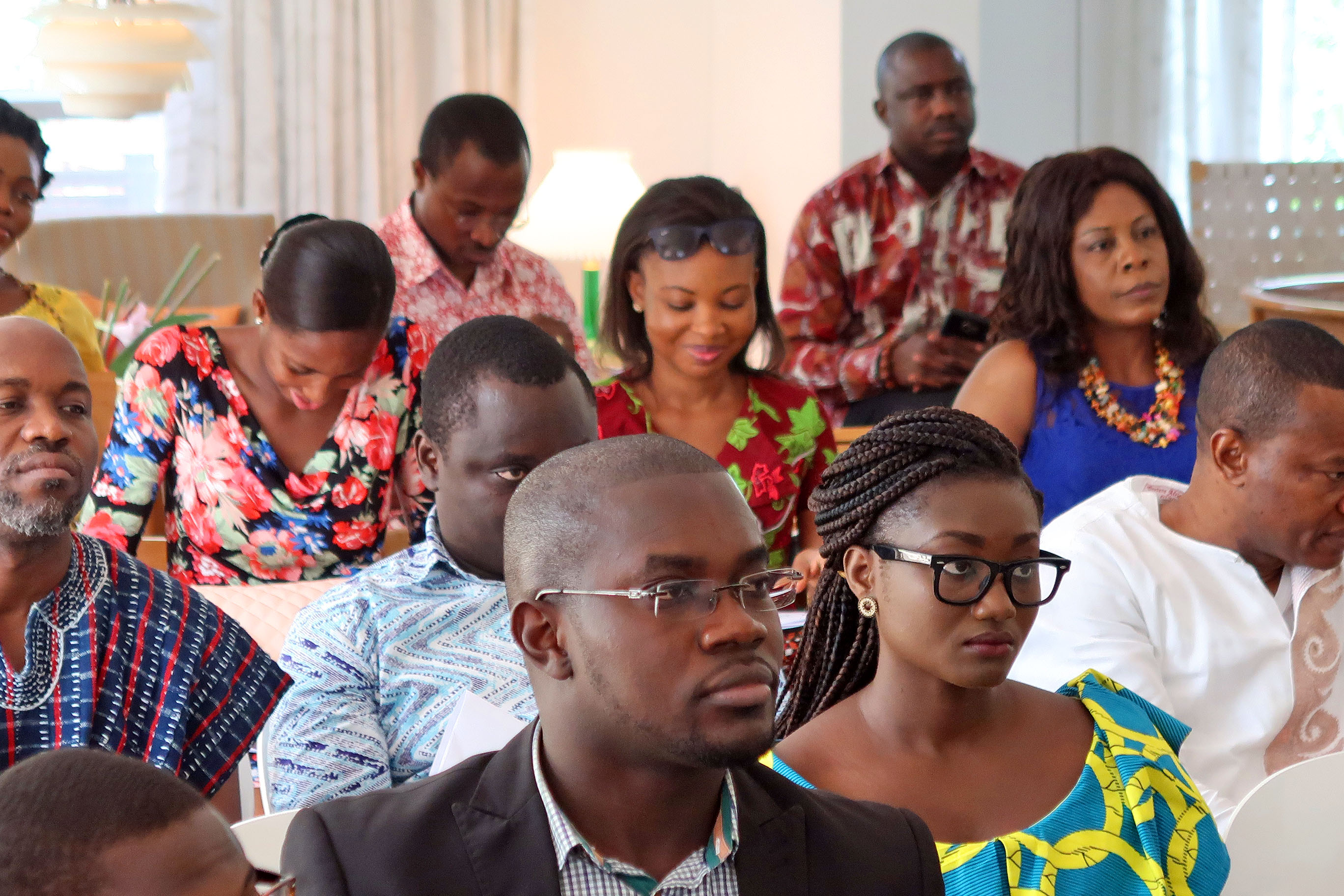 Concentration during one of the presentations. Photo Danish Embassy in Ghana.