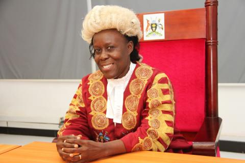 Uganda's Supreme Justice Lillian Tibatemwa-Ekirikubinza April 2016. Photo: Peter Owora