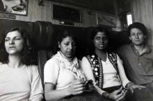 Anuradha Desai (2nd right) in the train to Turkey more than 30 years ago