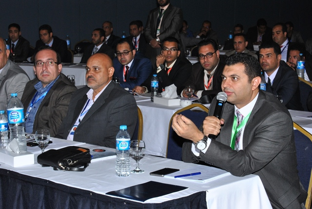 Hazem Hagab at business conference. Private photo
