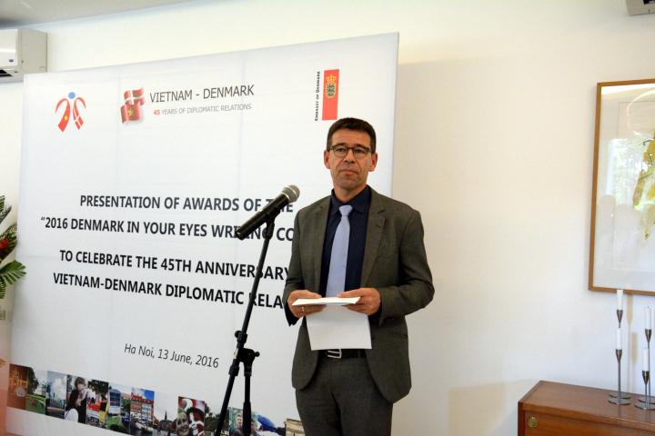 Morten Pristed, Councillor, Education and Health, Danish Embassy, Vietnam during the official launch the new Denmark Vietnam Alumni Network.