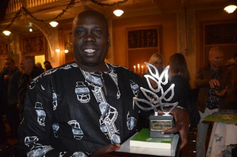 William Ongoro received the Livia Award 2016. Photo: Poul Erik Christoffersen